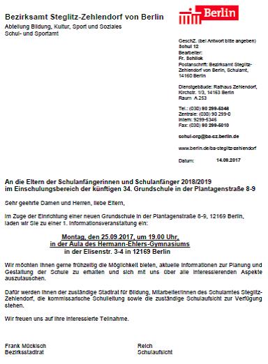 matthias meyer | grundschule am stadtpark steglitz | page 4, Einladung