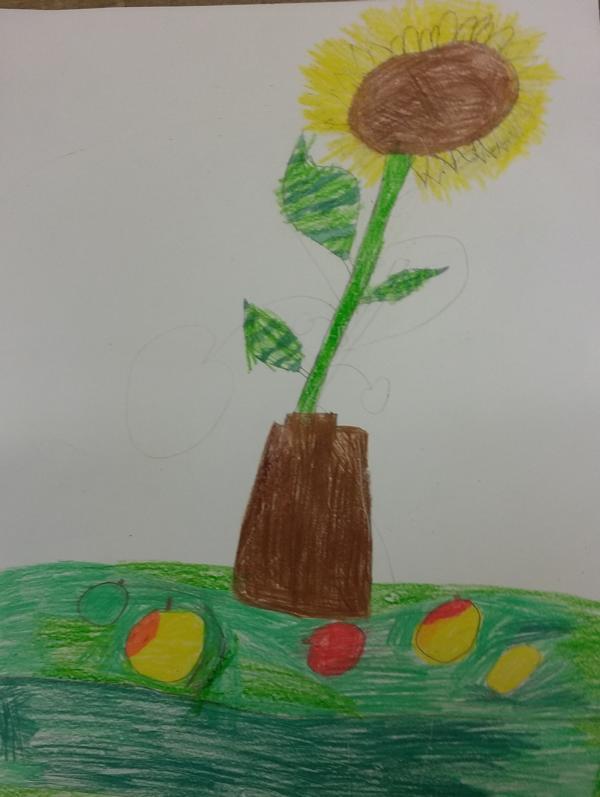 sonnenblume zeichnen grundschule